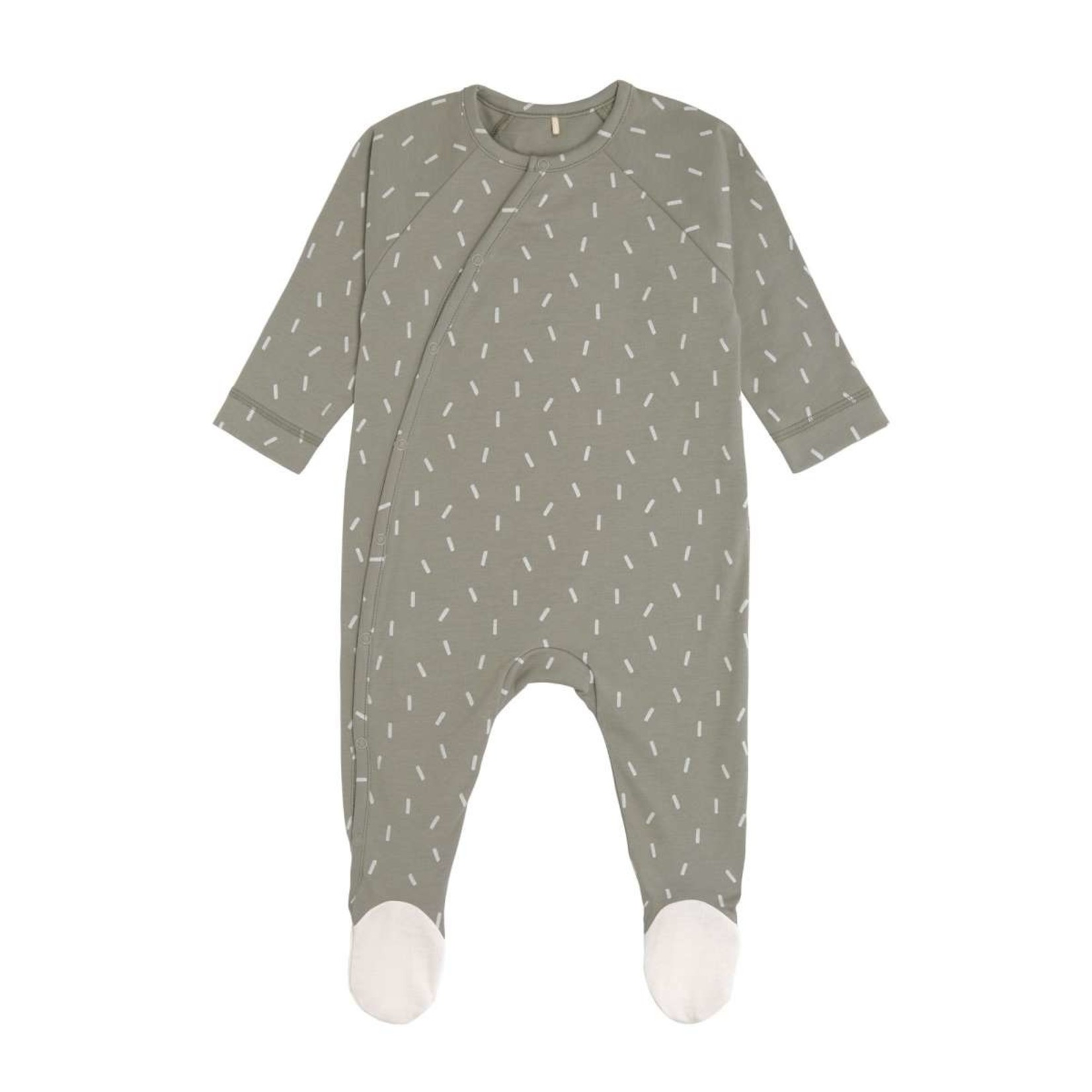 Lässig Lässig Pyjama met voetjes Gots Speckles Olive