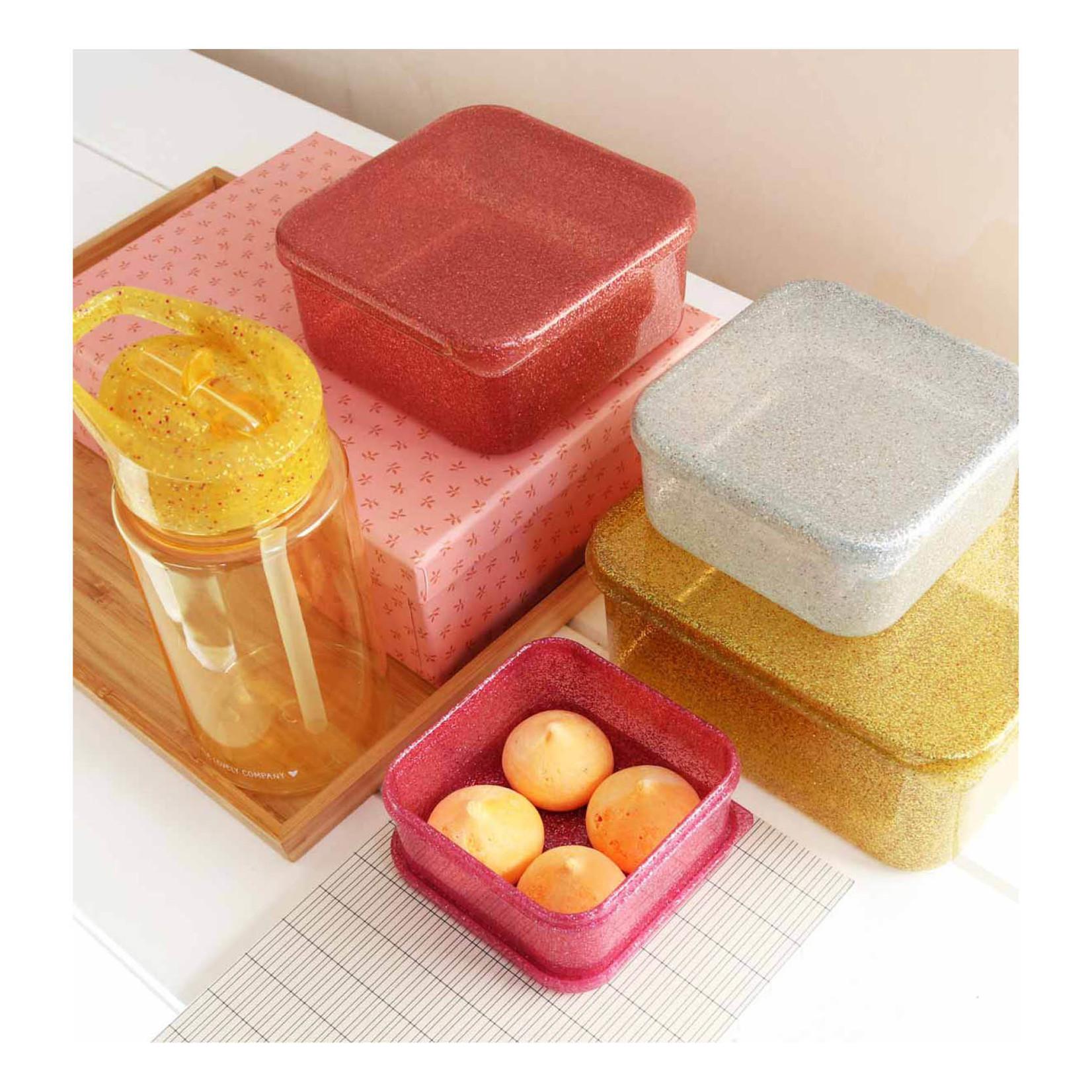 A Lovely Little Company A Lovely Little Company Lunch & Snack box set Gold blush