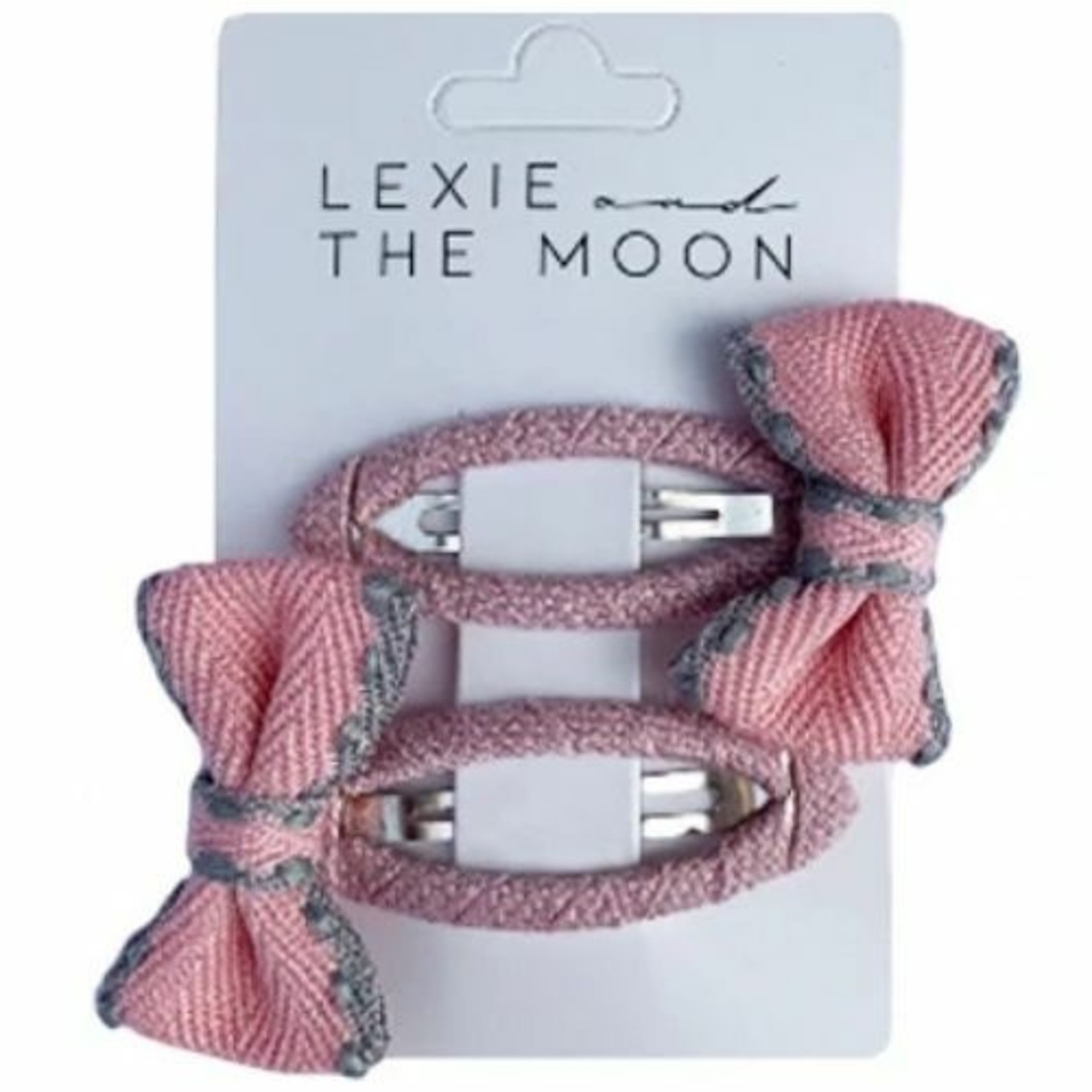 Lexie and the Moon Lexie and the Moon Set van 2 haarspeldjes Bow Soft Pink