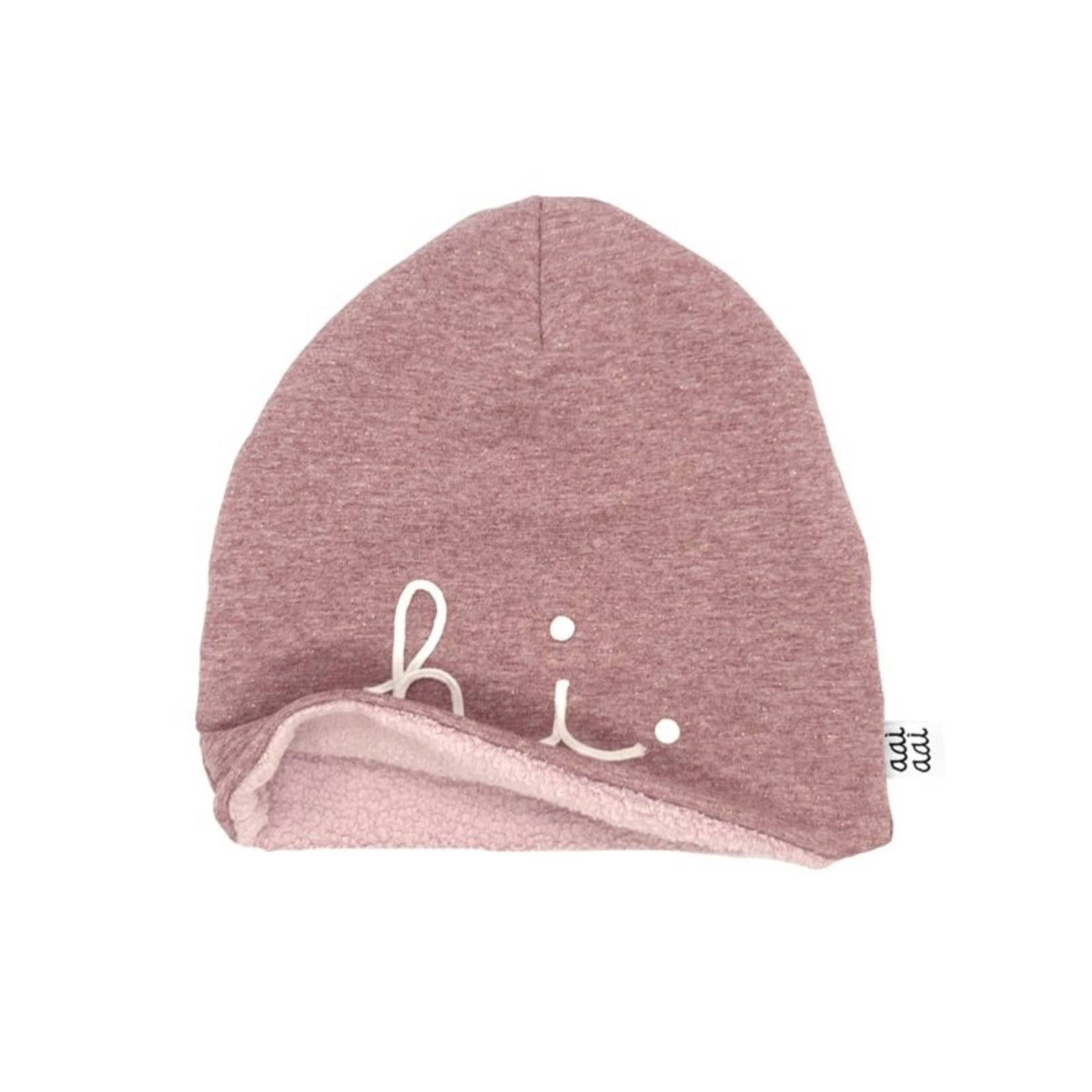 Aai Aai Winterbeanie 'Hi' Pink