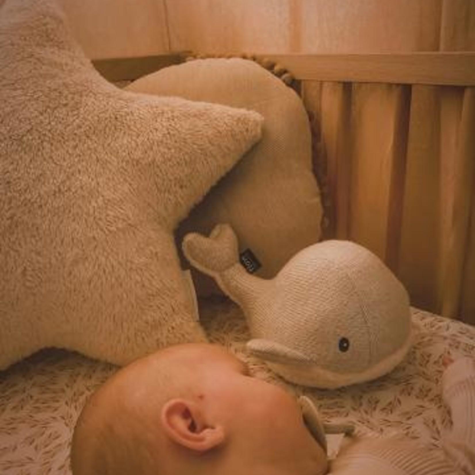 Flow Flow Knuffel met hartslag Moby The Whale Grijs