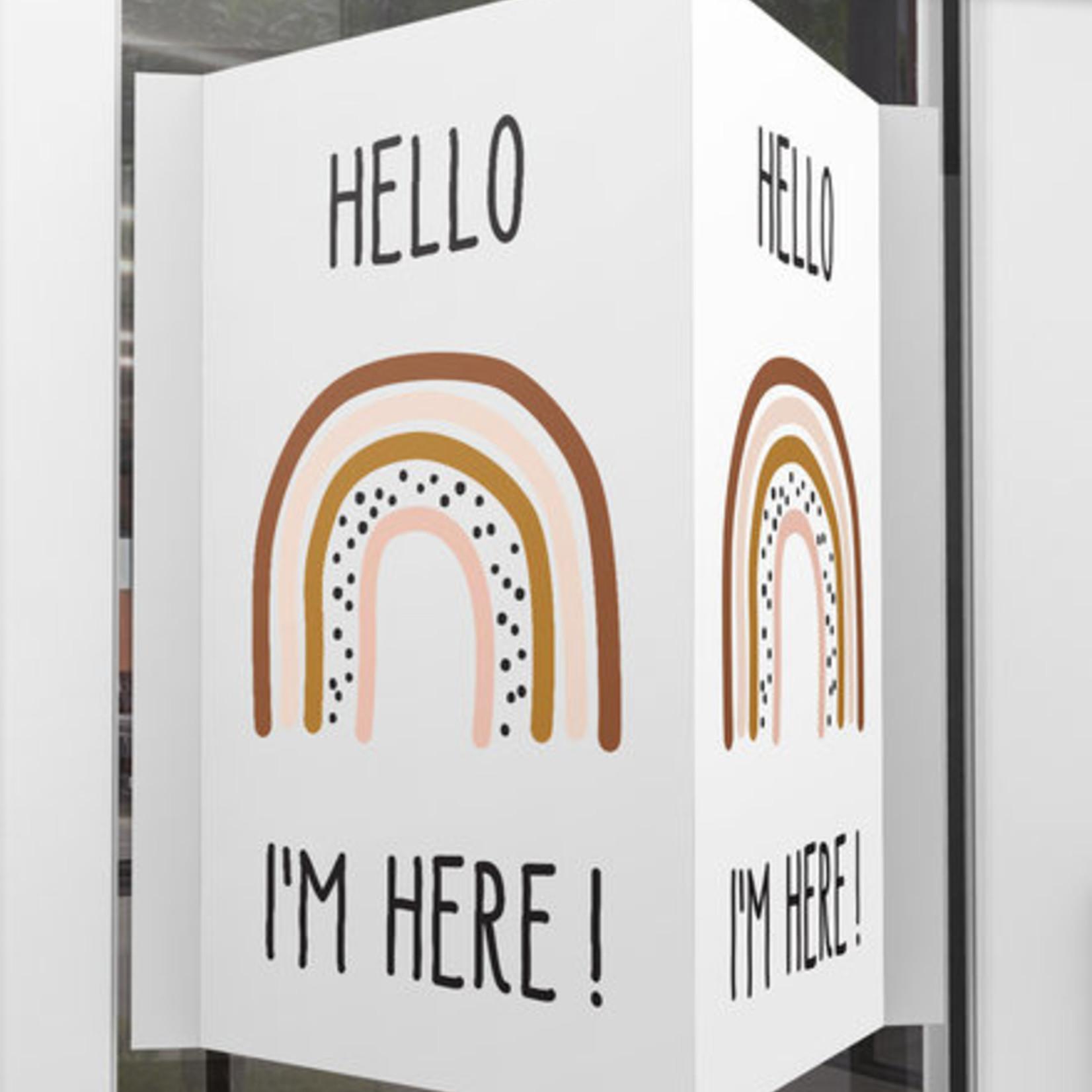 Minimou Minimou Geboortebord 'Hello I'm here' Girl Rainbow