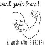Minimou Minimou Tijdelijke tattoo 'Ik word grote broer'