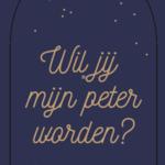 Minimou Minimou Sticker 'Wil jij mijn peter worden?' Blue gold dots