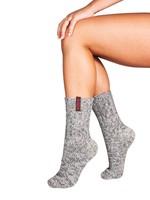 Soxs Vrouw grijze wol medium model bohemian panter label
