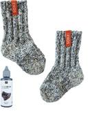 Soxs Baby grijze wol hoog model dutch orange label maat 19-28