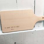 houten serveerplank: pluk het leven
