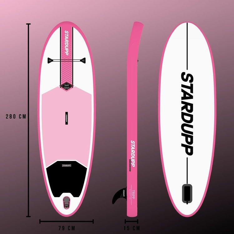Stardupp Stardupp Tripp SUP Pink 9'1 Set - Allround SUP Board