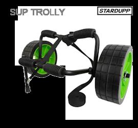 sup vervoeren met een sup trolly van stardupp