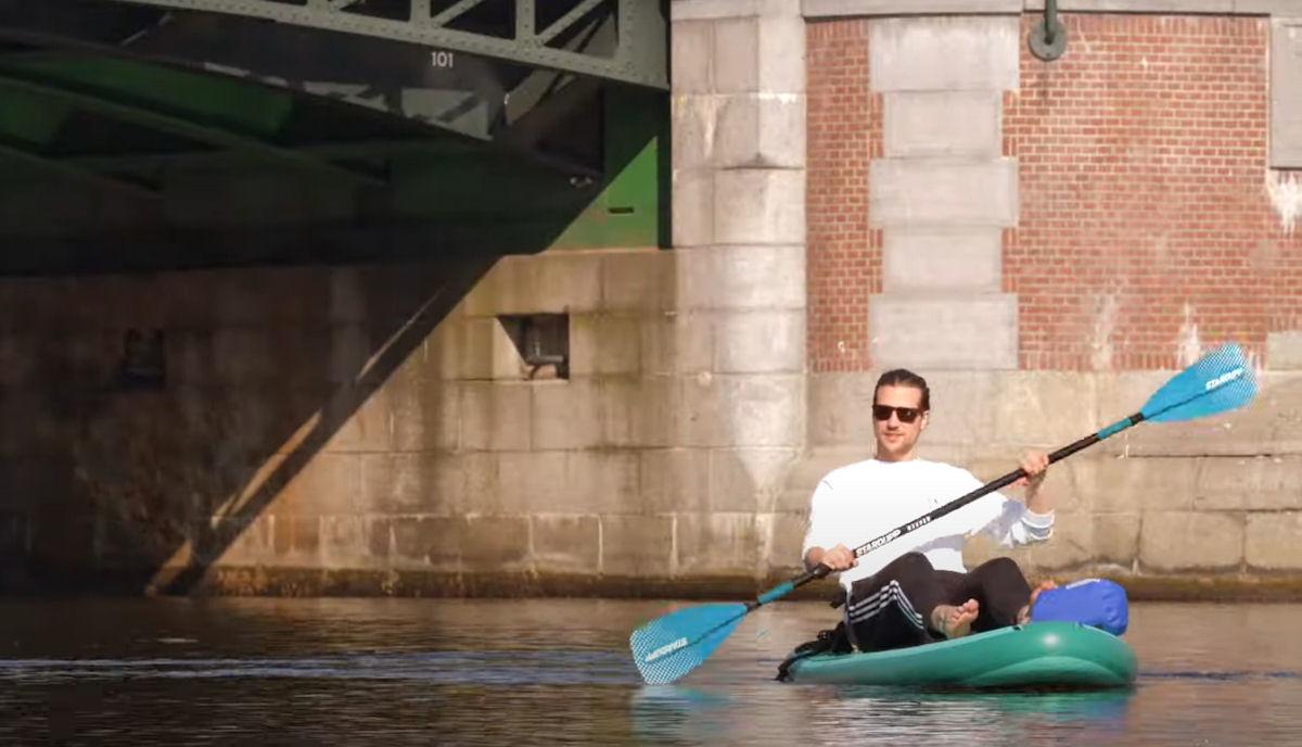 Maak van je sup board met zitje een Kayak!