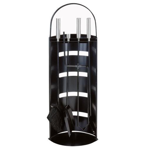 Home & Styling Openhaardset RVS zwart - 5 delig