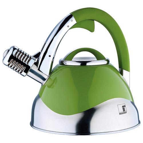 Bergner Roestvrijstalen microfoon-fluitketel - groen