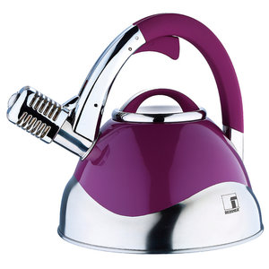 Bergner Roestvrijstalen microfoon-fluitketel (3 liter) lila