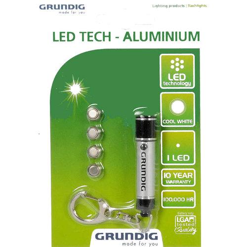 Grundig LED zaklamp met sleutelhanger, 6cm