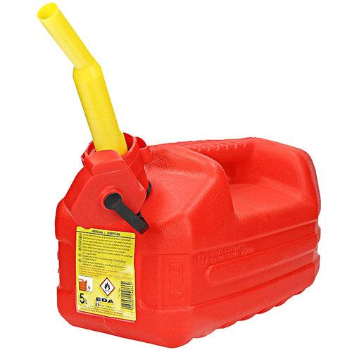 Benzine jerrycan met tuit, 5 liter