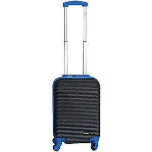 Leonardo Handbagage koffer duo-tone zwart / blauw