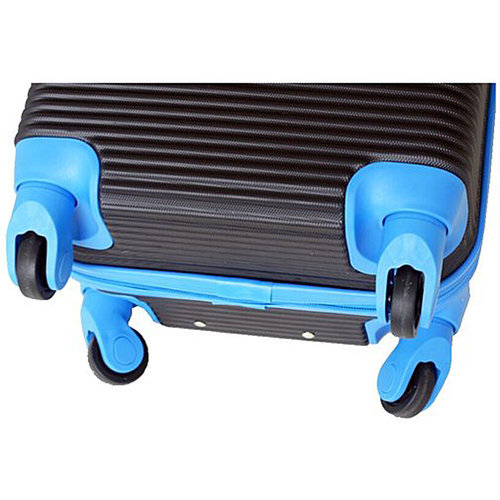Leonardo Handbagage koffer duo-tone zwart / fuchsia