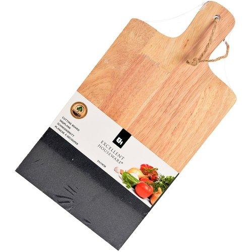 Excellent Houseware Snijplank natuursteen-hout 37x19cm