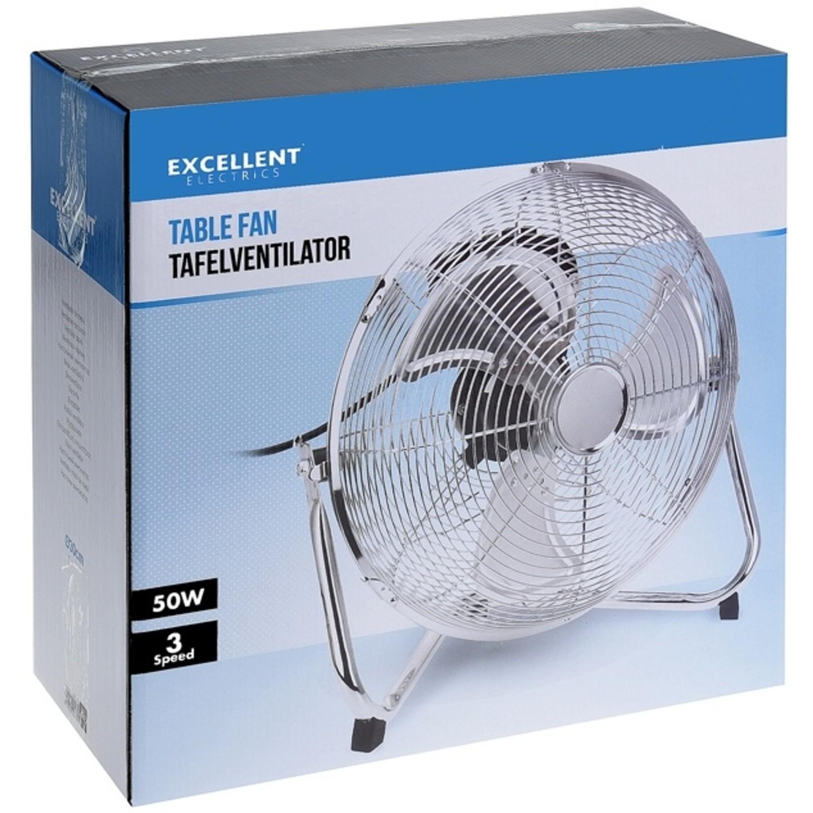 Excellent Electrics Ventilator chroom 30cm