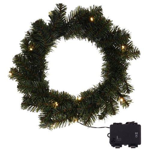 DecorativeLighting Kerstkrans 35cm met verlichting en timerfunctie