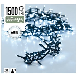 DecorativeLighting Micro Cluster 1500 LED's 30 meter wit