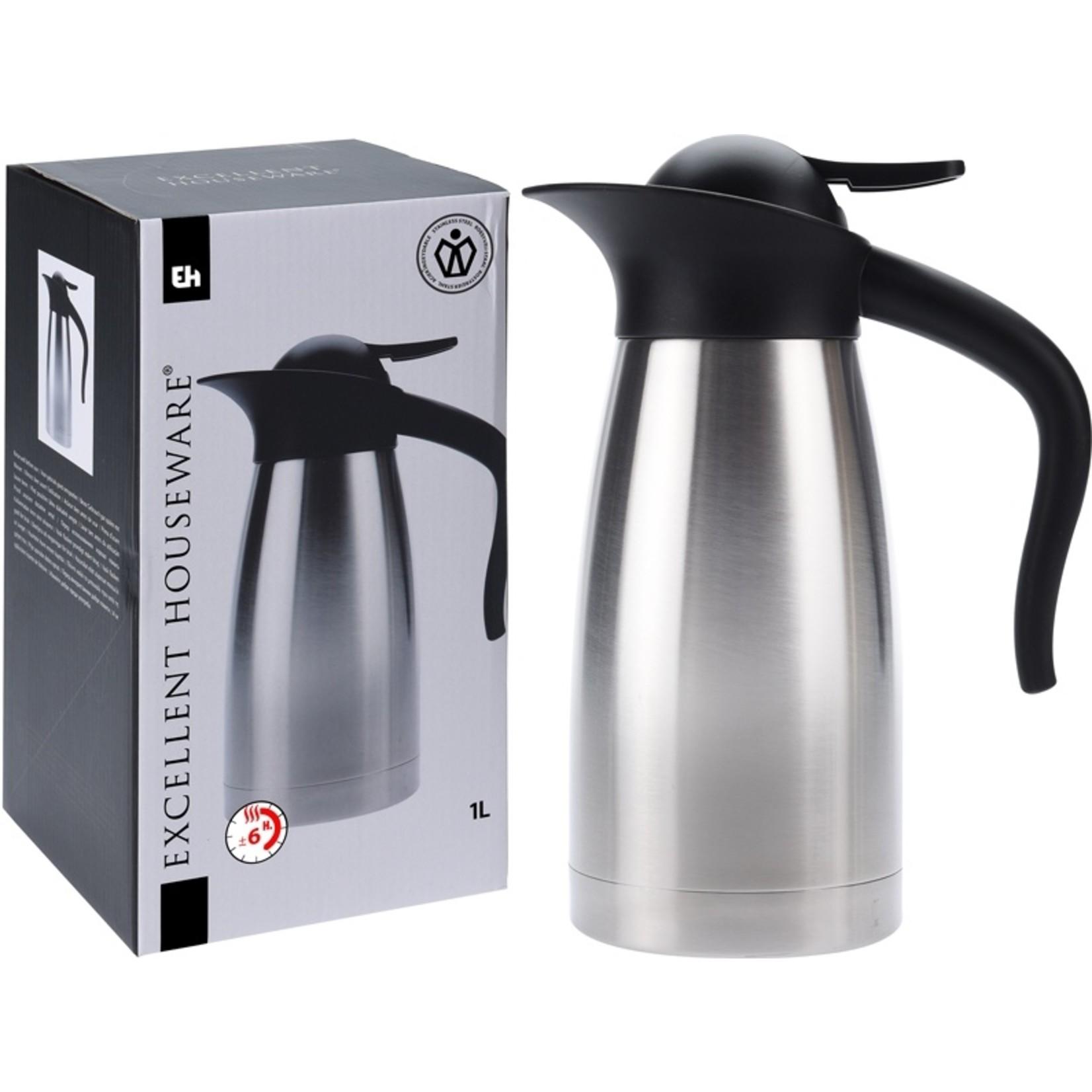 Excellent Houseware Isoleerkan RVS - 1 liter
