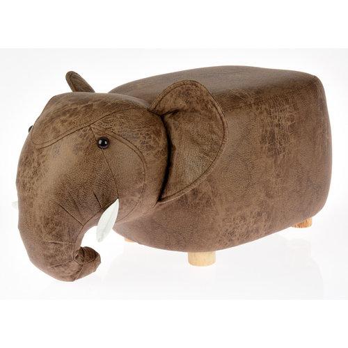 Ceruzo Poef olifant - voetenbank