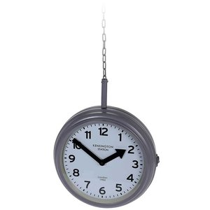 Segnale Stationsklok hangend - 30cm - grijs