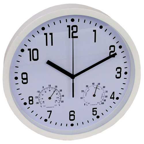 Gifts@Home Wandklok, hygro- / thermometer 25cm