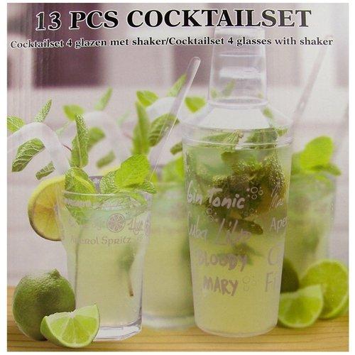 Cuisine Performance Cocktailset - met 4 glazen en shaker