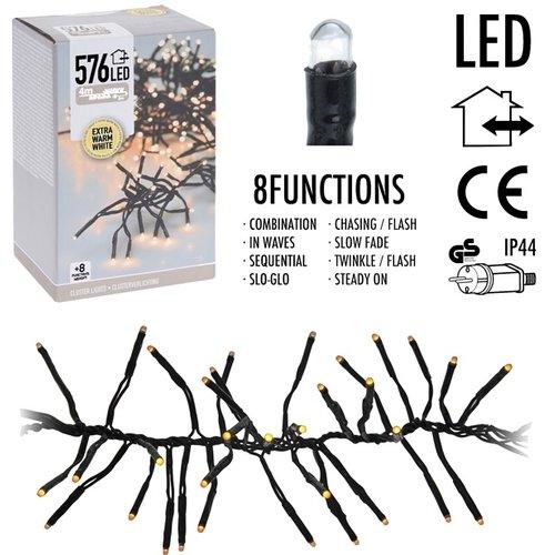 DecorativeLighting Clusterverlichting - 576 LED - 4m - extra warm wit