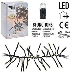 DecorativeLighting Clusterverlichting 768 LED - 5.5m - extra warm wit