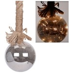Ceruzo Glazen bal met 15 LED's - 10cm - met timer
