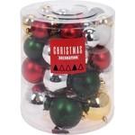 Christmas Decoration Kerstballenset - 44 stuks plastic - traditional mix