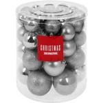 Christmas Decoration Kerstballenset - 44 stuks plastic - zilver