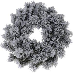 Ceruzo Kerstkrans - groen met sneeuw - 40 cm