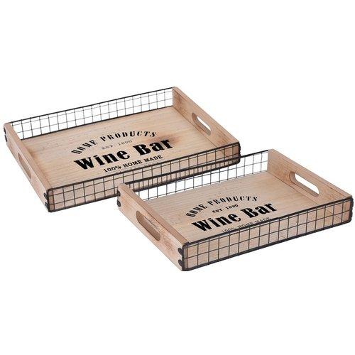 "Home & Styling Dienbladen ""Wine Bar"" - 2 stuks"