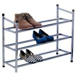 Storage Solutions Uitschuifbaar Schoenenrek - van 61 tot 115cm - 3 laags