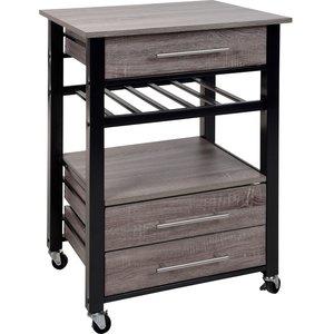 Excellent Houseware Luxe Keukentrolley - metaal en hout