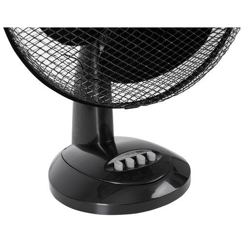 Mesko MS7309 - Tafelventilator zwart - 30cm