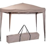 Ambiance Easy-up Partytent - 3x3m - Opvouwbaar - Taupe