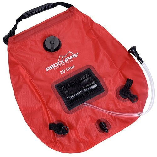 Redcliffs Campingdouche met thermometer - 20 liter - rood