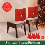 Ceruzo Kerst Stoelhoezen - 6 stuks