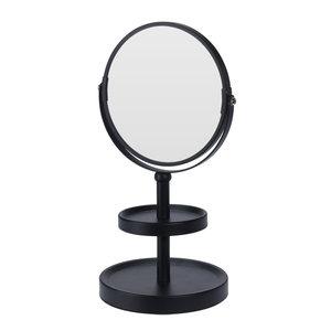 Ceruzo Make-up spiegel - dubbelzijdig - vergrotend - zwart