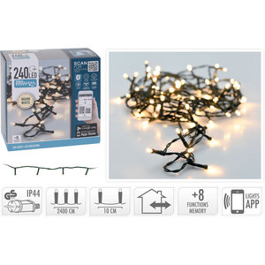 DecorativeLighting LED-verlichting met App bediening - 240 LED's - 24 meter - warm wit