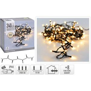 DecorativeLighting LED-verlichting 240 LED - 24meter - warm wit - 8 functies
