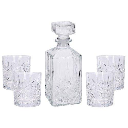 Whiskeyset - karaf met 4 glazen