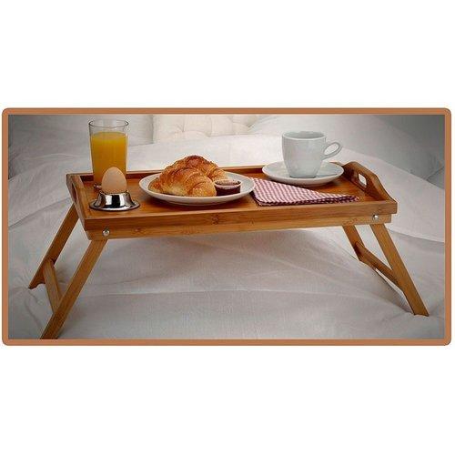 Excellent Houseware Bamboe dienblad voor op bed (50x30x24)