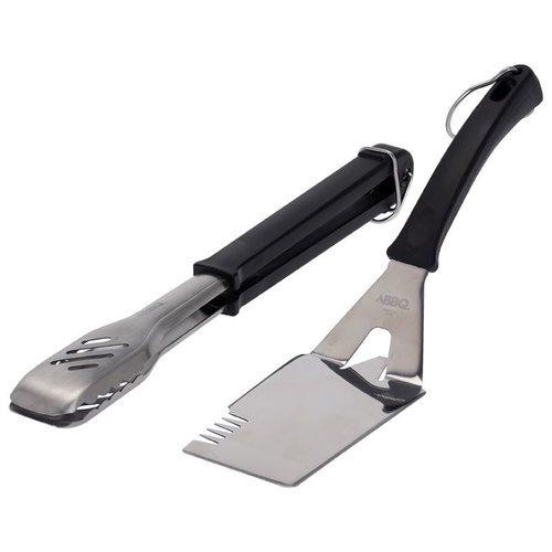 Vaggan Barbecue kookgerei - RVS - 2 stuks
