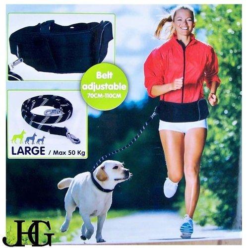 JHG Collection Luxe hondenriem met heupband